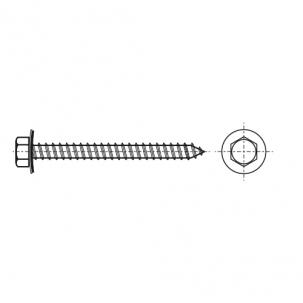 ART 9057 A A2 Саморіз з шестигранною головкою і шайбою EPDM 16мм