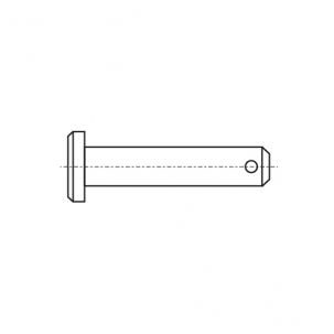 DIN 1444-B цинк Штіфт з низькою головкою з отвором