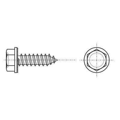 ISO 7053-C цинк Саморез с шестигранной головкой и пресс-шайбой