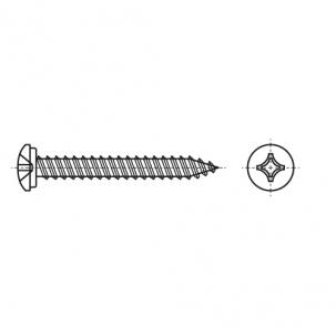 ART 9065 A2 Саморіз з напівкруглою головкою і хрестоподібним шліцом PH - Dinmark