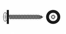 https://dinmark.com.ua/images/ART 9066 Саморіз з напівкруглою головкою і шайбою poliamid