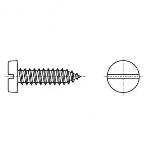 DIN 7971-C A2 Саморез с полукруглой головкой и прямым шлицем