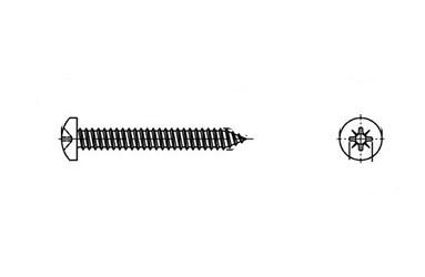 DIN 7981-C A2 Саморіз з напівкруглою головкою PZ