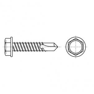 DIN 7504 K A4 Саморез с шестигранной головкой и с буром