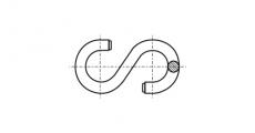 https://dinmark.com.ua/images/ART 8160 S-Гачок симетричний - Інтернет-магазин Dinmark