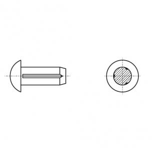 DIN 1476 A2 Штифт цилиндрический с полукруглой головкой - Dinmark