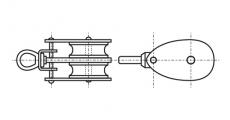 https://dinmark.com.ua/images/ART 8390 Двойной блок такелажный с вертлюгом