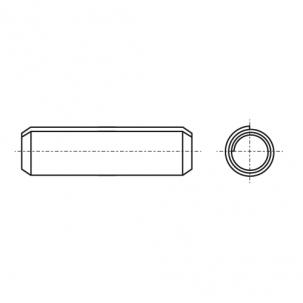 DIN 7343 Штифт цилиндрический пружинный без покрытия