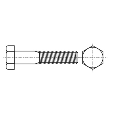 DIN 931 8,8 цинк UNC Болт з шестигранною головкою і частковою різьбою, дюймовою різьбою