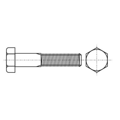 DIN 931 8,8 UNF Болт с шестигранной головкой и частичной резьбой, дюймовой резьбой