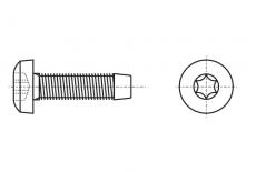 DIN 7500 C цинк Винт с полукруглой головкой самонарезающий PZ