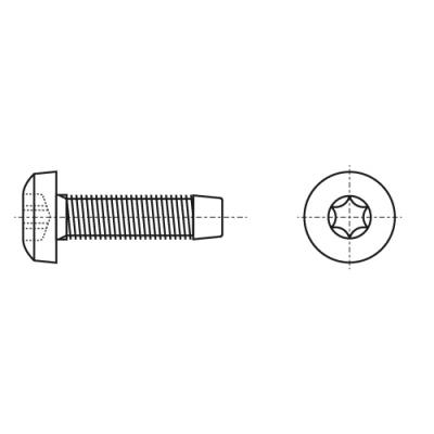 DIN 7500 C цинк Гвинт з напівкруглою головкою самонарізаючий PZ