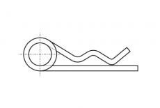 DIN 11024 цинк Шплінт пружинний Форма D