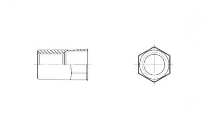 ART 9318 Клепальная гайка частично шестигранная с потайным буртиком