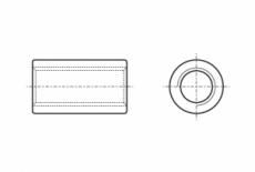 ART 9070 цинк Гайка втулка цилиндровая