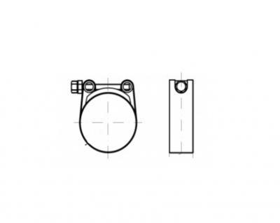 DIN 3017-C цинк W1 Хомут силовой