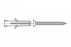 AN 237 цинк Дюбель для бетона с шурупом