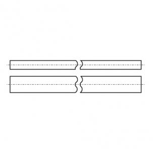DIN 6880 Шпонка стальная без покрытия