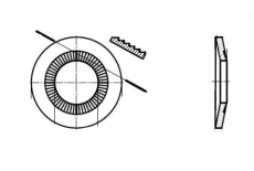 NFE 25-511-L цинк платковий Шайба контактна