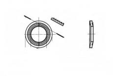 NFE 25-511-N цинк платковий Шайба контактна зубчаста
