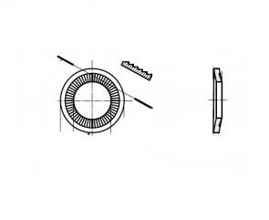 NFE 25-511-N цинк платковий Шайба контактная зубчатая