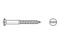 DIN 96 латунь Шуруп с полукруглой головкой и прямым шлицем