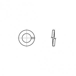 DIN 127-B цинк горячий Шайба пружинная (Гровер)