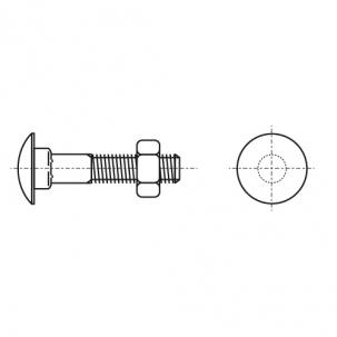 DIN 603 латунь Болт з напівкруглою головкою і квадратним підголовником