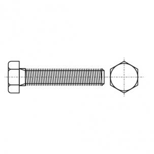 DIN 933 8,8 цинк PL Болт с шестигранной головкой и полной резьбой и прямым шлицем