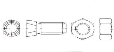 Спецболт 1199-D 12,9 із двома конусними зрізами