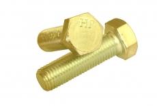 DIN 933 8,8 цинк желтый Болт с шестигранной головкой и полной резьбой