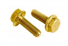 DIN 6921 10,9 цинк жовтий Болт з шестигранною головкою і зубчастим фланцем