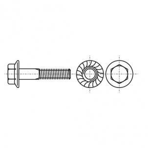 DIN 6921 10,9 цинк желтый Болт с шестигранной головкой и фланцем зубчатый