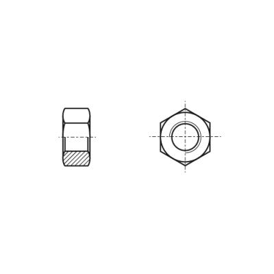 DIN 934 8 Гайка шестигранная с левой резьбой