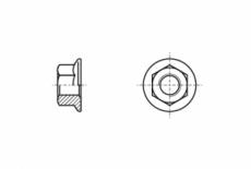 DIN 6923 10 Гайка шестигранна з фланцем