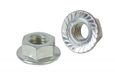 DIN 6923 10 цинк Гайка шестигранная с фланцем зубчастая
