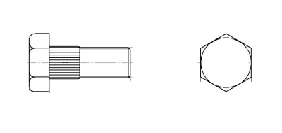 Болт сегмента жатки з шестигранною головкою 10,9 цинк Schumacher  - Dinmark