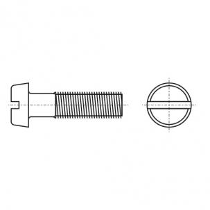 DIN 84 4,8 цинк Винт с полукруглой головкой и прямым шлицем