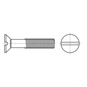 DIN 963 4,8 Гвинт з потайною головкою і прямим шліцом - Dinmark