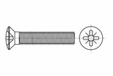 DIN 966 цинк Гвинт з напівпотайною головкою і хрестоподібним шліцом PH