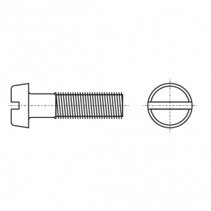 DIN 84 4,8 Винт с полукруглой головкой и прямым шлицем