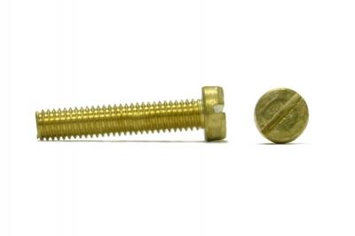 DIN 84 латунь Гвинт з напівкруглою головкою і прямим шліцом