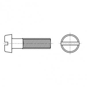 DIN 84 поліамід Гвинт з напівкруглою головкою і прямим шліцом