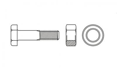 EN 14399-4 10,9 цинк гарячий Комплект високоміцний HV - Dinmark