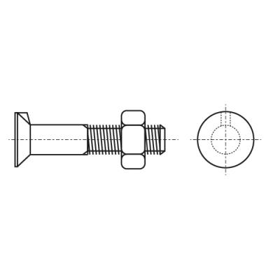 DIN 604 10,9 Болт з потайною головкою і виступом (вусом)
