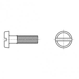 DIN 85 латунь Винт с полукруглой головкой и прямым шлицем
