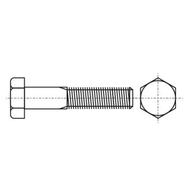 ISO 4014 12,9 Болт с шестигранной головкой и частичной резьбoй