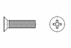 DIN 965 4,8 Гвинт з потайною головкою і хрестоподібним шліцом PH