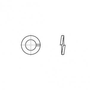 DIN 127-B без покрытия Шайба пружинная (Гровер)