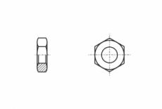 DIN 439 04 Гайка низкая шестигранная с мелким шагом